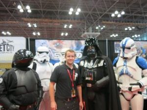 Making me feel tall ... did Vader shrink?