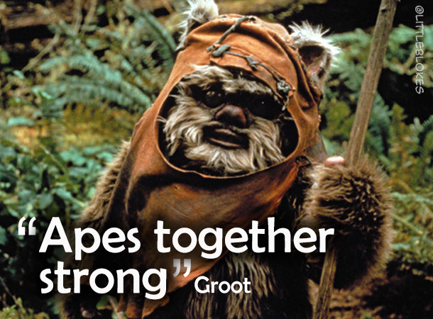 How to start a nerd fight: Apes together strong