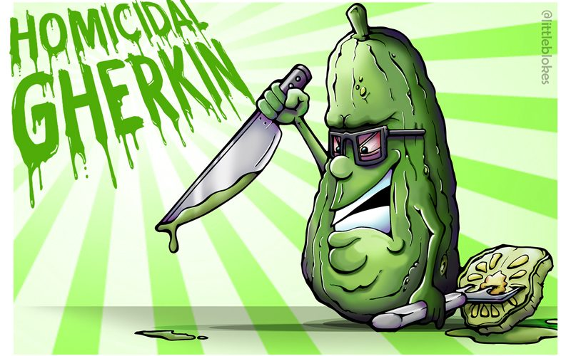 The homicidal Gherkin by littleblokes 2018